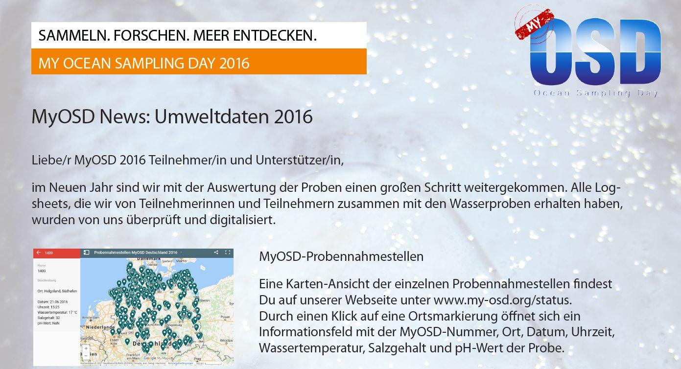 MyOSD -- My Ocean Sampling Day 2016